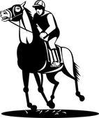 лошадь и жокей гонки — Cтоковый вектор