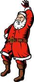 Noel baba noel baba sallayarak selam — Stok Vektör