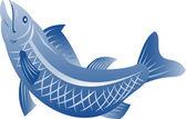 Pstrąg ryba skoki — Wektor stockowy