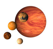 Planet Jupiter and moons — Stock Photo
