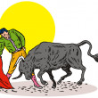 Bullfighter Matador Bullfighting — Stock Vector