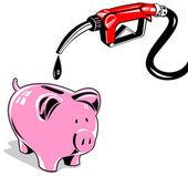 Fuel Pump Station Nozzle Retro — Stock Vector