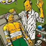 Постер, плакат: Crazy Mad Scientist Injecting