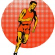 Marathon Runner Athlete Running — Stock Vector