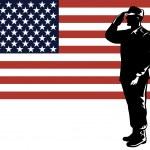 American Solder Serviceman Saluting — Stock Vector #28931207