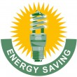 Energy Saving Label Lightbulb — Stock Vector