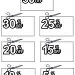 Scissors Cutting Coupon Per Cent Sign — Stock Vector #28931717