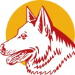 German Shepherd Dog — Imagen vectorial
