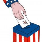 American Election Voting Ballot Box Retro — Stock Vector #28931859