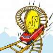 Coin Money on Rollercoaster — Stock Vector #28935495