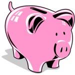Pink Piggybank — Stock Vector