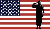 American Solder Serviceman Saluting — Stock Vector