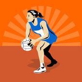 Netball Player — Stock Vector