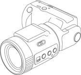 Camera lijntekening — Stockvector