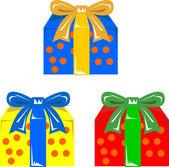 Pudełko świąteczne prezenty — Wektor stockowy