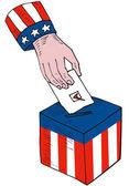 Amerykańskie wybory głosowania urny retro — Wektor stockowy