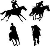 Equestrian Show Silhouette — Stock Vector