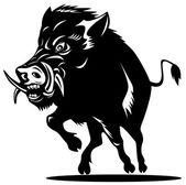 Sanglier de cochon sauvage — Vecteur