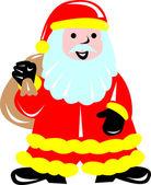 父亲圣诞节圣诞老人 — 图库矢量图片