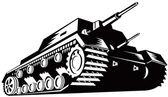 Army Tank Retro — Stock Vector