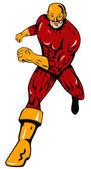 Super Hero Running Retro — Stock Vector