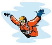 Skydiving Solo — Stock Vector