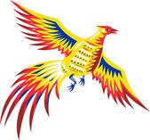 Fazant bird fowl vliegende retro — Stockvector