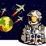 ������, ������: Astronaut Spaceships Retro