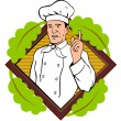 Chef Cook Baker — Stock Vector #29949663