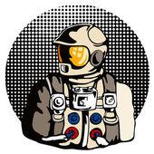 Astronaut Retro — Stock vektor