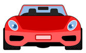 Red Car Front View — Stock Vector