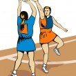 Netball Player Shooting — Stock Vector #29950207