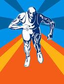 Sprinter Running — Stock Vector