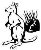 Wallaby — Stock Vector