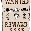 Stock Photo: Wanted Reward Poster