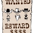 Wanted Reward Poster — Stockfoto