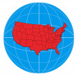 Globe USA Map — Stock Photo