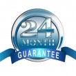 Постер, плакат: Icon 24 Month Guarantee Blue