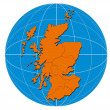 Globe Scotland Map — Stock Photo #30007453