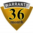 36 Month Warranty Shield — Stock Photo