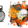 Stock Photo: Stopwatch Exploding