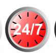 24 7 Clock Icon — Stock Photo #30008019