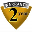 2 Year Warranty Shield — Stock Photo