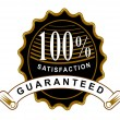 100 percent Satisfaction Guaranteed Black Seal and Ribbon — Stock Photo #30009745