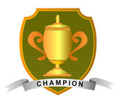Championship Cup with Champion — Stock Photo