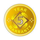 Year 5 Warranty — Stock Photo