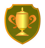 Championship Cup in Shield — Stock Photo
