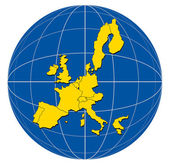 Globe Europe Map — Stock Photo