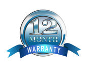 Icon 12 Month Warranty Blue — Stock Photo