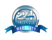 Icon 24 Month Warranty Blue — Stock Photo